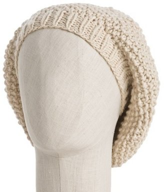 Grace Hats ivory knit 'Moss Watch' beret