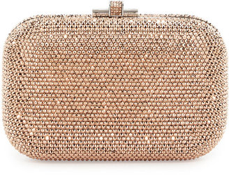 Judith Leiber Couture Crystal Slide-Lock Clutch Bag,Silver/Rose Gold