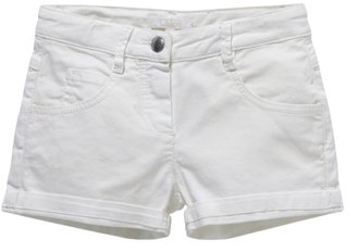 Chloé Girl's Stretch Short with Lurex Embroderies - Off White