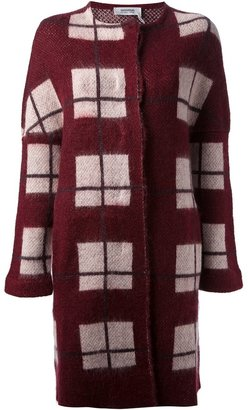 Sonia Rykiel Sonia By checked knit coat