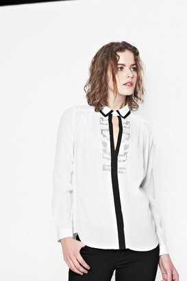 French Connection Animal Wave Sequin Shirt