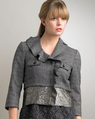 Philosophy di Alberta Ferretti Asymmetric Cropped Jacket