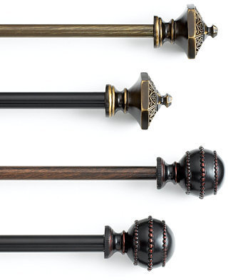 """BCL William and Henry Drapery Rod 28-48"""""""