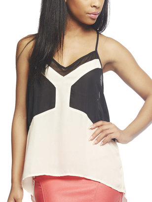 Arden B Colorblocked Netted Mesh Tank