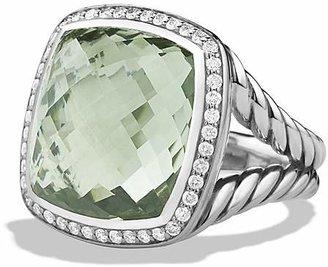 David Yurman Albion Ring with Prasiolite and Diamonds