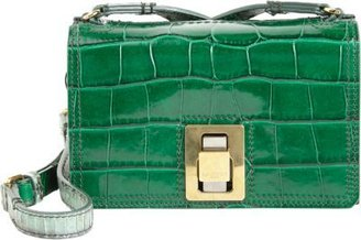 Lanvin Croc-Embossed Extra-Small Box Bag