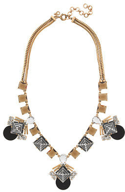 J.Crew Jeweled pyramid necklace