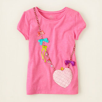 Children's Place Heathered neon graphic tee