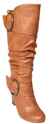 Hailey Jeans Co. Womens Wedge Heel Slouchy Mid-calf Boots
