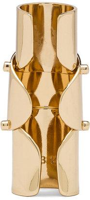 Maison Martin Margiela Finger Brass Ring in Gold