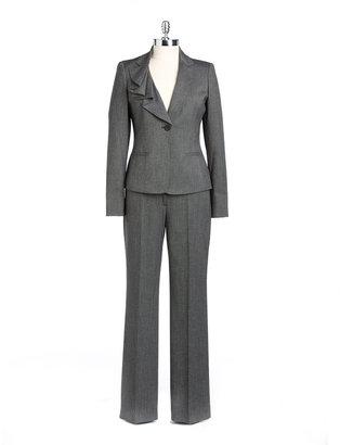 Anne Klein SUIT Asymmetric Ruffled Pants Suit