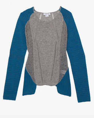 Helmut Lang Two Tone Melange Sweater