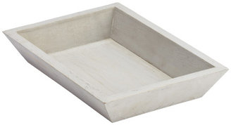 Container Store Small Whitewashed Wood Tapered Tray
