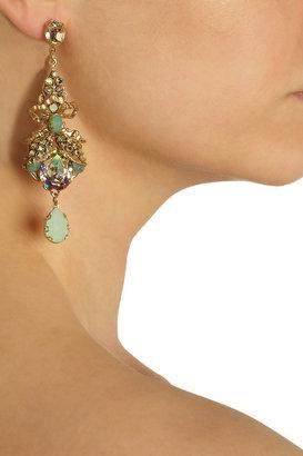 Swarovski Bijoux Heart Coquet gold-plated crystal earrings