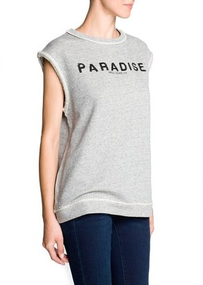 MANGO Outlet Paradise Sequin Sweatshirt