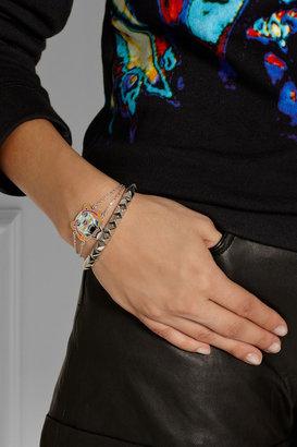 Kenzo Tiger enameled silver bracelet