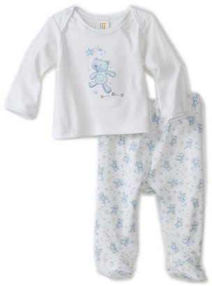 Absorba Baby-Boys Newborn Sweet Bear Boys Two Piece Footed Pant Set
