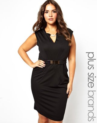 Little Mistress Pencil Dress With Metal Detail