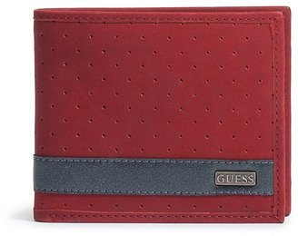 GUESS Red Nubuck Wallet