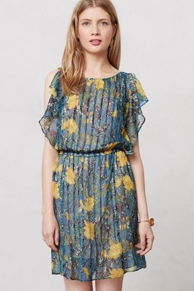 Anthropologie Pleated Daylily Dress