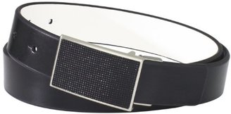 Kenneth Cole Reaction Men's Beaded Plaque Buckle Belt