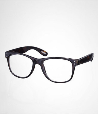 Express Clear Lens Tortoise Square Glasses