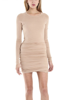 A.L.C. Lace Back Twisty Dress in Nude