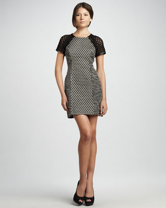 Tracy Reese Tweed Panel Dress