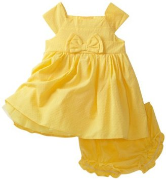 Sweet Heart Rose Baby-Girls Infant Cap Sleeve Woven Dress And Diaper Cover