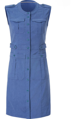 Burberry Linen Blend Posy Shirtdress