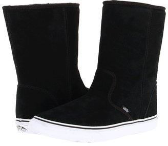 Vans Slip-On Boot ((Suede) Black) - Footwear