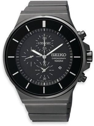 Seiko Men's Black Dial Chronograph Watch