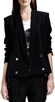 Stella McCartney Python Jacquard Blazer, Black