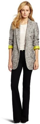 Helene Berman Women's Glittery Tweed Boyfriend Blazer