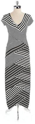 Nicole Miller Cap-Sleeve Printed Dress