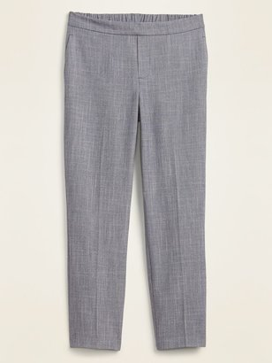 Old Navy Mid-Rise Pull-On Textured Straight-Leg Pants for Women