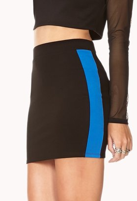 Forever 21 FOREVER 21+ Athletic Stripe Mini Skirt