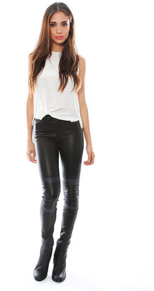 J Brand Irina Pieced Leather Skinny Leggings