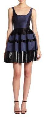 ABS by Allen Schwartz Flared Satin Party Dress