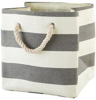 Stripes Around the Cube Bin (Grey) $13 thestylecure.com
