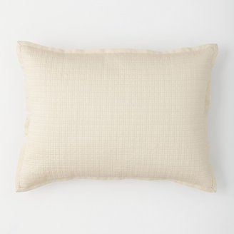 "Vera Wang Etched Roses Quilted Tattersall Pillow, 15"" x 20"""