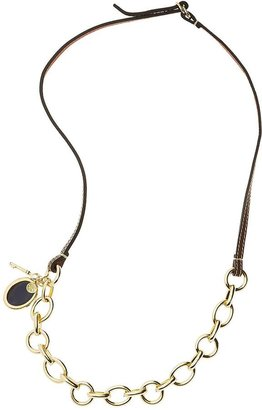 Leather Link Charm Necklace $128 thestylecure.com