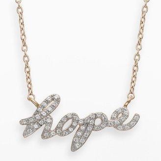 """JLO by Jennifer Lopez Jlove by 10k gold 1/7-ct. t.w. diamond """"hope"""" necklace"""