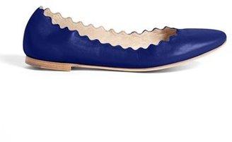 Chloé 'Lauren' Scalloped Ballet Flat (Women)(Nordstrom Exclusive)
