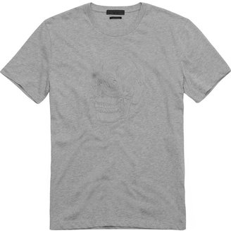 Alexander McQueen Black Skull Embroidered T-Shirt