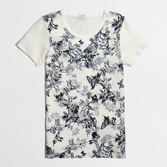 J.Crew Factory Factory blue floral collector tee