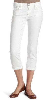 7 For All Mankind Women's Skinny Crop And Roll Jean in Clean White