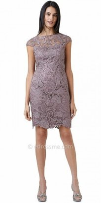 Adrianna Papell Cap Sleeve Embroidered Lace Cocktail Dresses