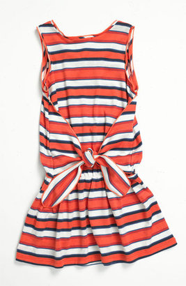 Little Marc Jacobs Sleeveless Dress (Little Girls & Big Girls) Coral Red 12