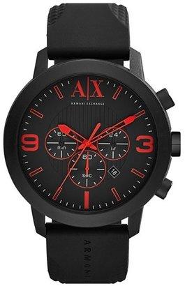 Armani Exchange Chronograph Silicone Strap Watch, 49mm